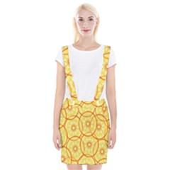 Lemons Orange Lime Circle Star Yellow Suspender Skirt by Alisyart
