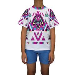 Geometric Play Kids  Short Sleeve Swimwear by Amaryn4rt