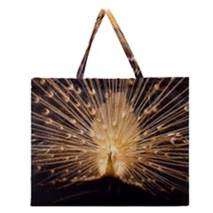 3d Beautiful Peacock Zipper Large Tote Bag by Amaryn4rt