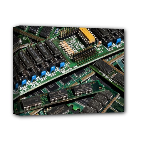 Computer Ram Tech Deluxe Canvas 14  X 11  by Amaryn4rt