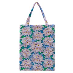 Plumeria Bouquet Exotic Summer Pattern  Classic Tote Bag by BluedarkArt