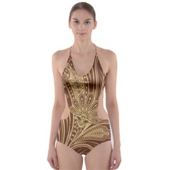 Beautiful Patterns Vector Cut Out One Piece Swimsuit by Amaryn4rt
