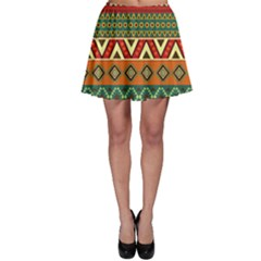 Mexican Folk Art Patterns Skater Skirt by Amaryn4rt