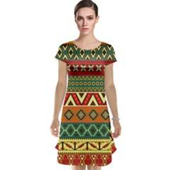 Mexican Folk Art Patterns Cap Sleeve Nightdress by Amaryn4rt