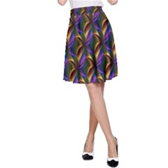 Seamless Prismatic Line Art Pattern A Line Skirt