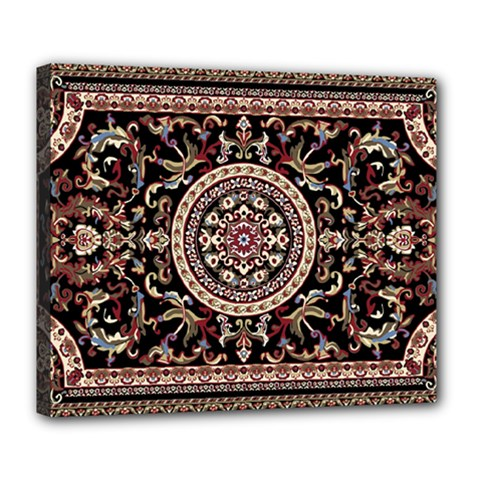Vectorized Traditional Rug Style Of Traditional Patterns Deluxe Canvas 24  X 20