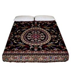 Vectorized Traditional Rug Style Of Traditional Patterns Fitted Sheet (california King Size)