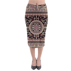 Vectorized Traditional Rug Style Of Traditional Patterns Midi Pencil Skirt by Amaryn4rt