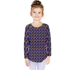 Celtic Bell Flowers Kids  Long Sleeve Tee by CannyMittsDesigns
