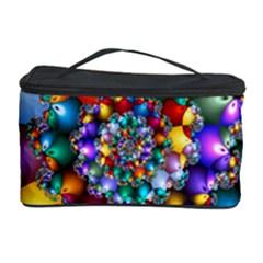 Rainbow Spiral Beads Cosmetic Storage Case by WolfepawFractals