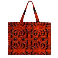 3d Metal Pattern On Wood Large Tote Bag