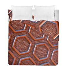 3d Abstract Patterns Hexagons Honeycomb Duvet Cover Double Side (full/ Double Size) by Amaryn4rt