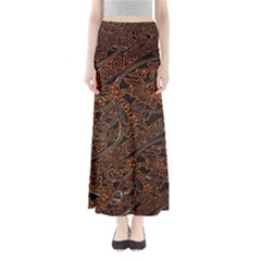 Art Traditional Indonesian Batik Pattern Maxi Skirts by Amaryn4rt