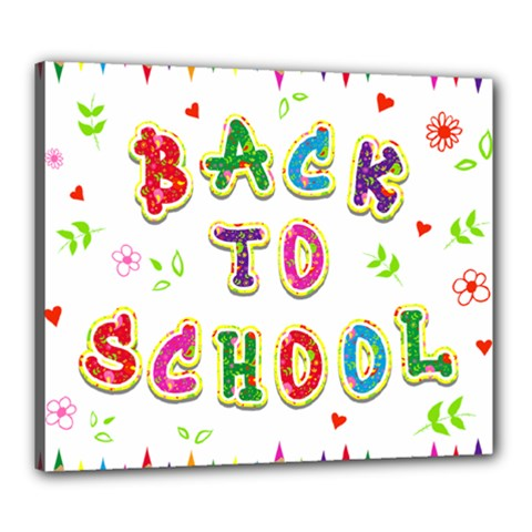 Back To School Canvas 24  X 20  by Amaryn4rt