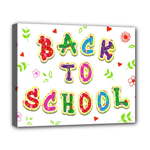 Back To School Deluxe Canvas 20  X 16   by Amaryn4rt