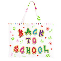 Back To School Zipper Large Tote Bag by Amaryn4rt