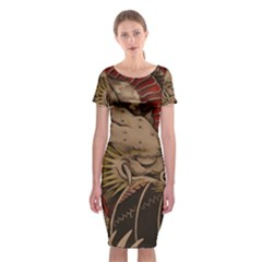 Chinese Dragon Classic Short Sleeve Midi Dress by Amaryn4rt