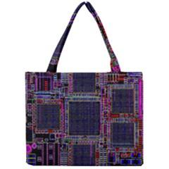 Technology Circuit Board Layout Pattern Mini Tote Bag by Amaryn4rt