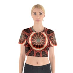 Circle Pattern Cotton Crop Top by Amaryn4rt