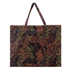 Digital Camouflage Zipper Large Tote Bag