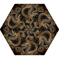 Dragon Pentagram Mini Folding Umbrellas by Amaryn4rt