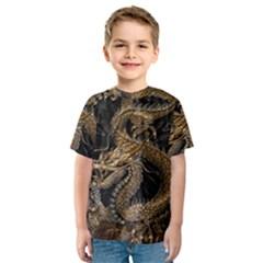 Dragon Pentagram Kids  Sport Mesh Tee by Amaryn4rt