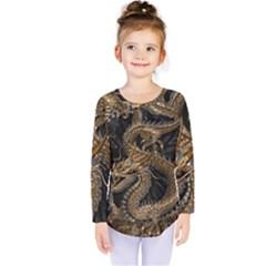 Dragon Pentagram Kids  Long Sleeve Tee by Amaryn4rt