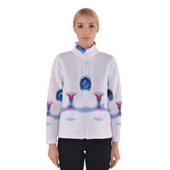 Cute White Cat Blue Eyes Face Winterwear by Amaryn4rt