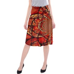 Dreamcatcher Stained Glass Midi Beach Skirt