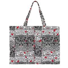 Sribble Plaid Zipper Large Tote Bag by Amaryn4rt