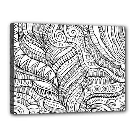 Zentangle Art Patterns Canvas 16  X 12  by Amaryn4rt