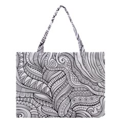 Zentangle Art Patterns Medium Tote Bag by Amaryn4rt