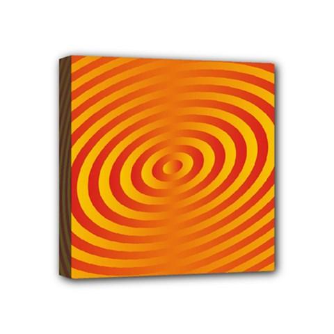 Circle Line Orange Hole Hypnotism Mini Canvas 4  X 4  by Alisyart