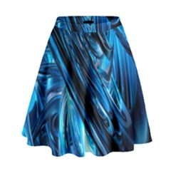 Blue Wave High Waist Skirt by Alisyart