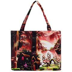 Fantasy Art Story Lodge Girl Rabbits Flowers Mini Tote Bag by Onesevenart