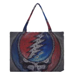 Grateful Dead Logo Medium Tote Bag by Onesevenart