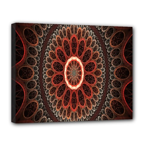 Circles Shapes Psychedelic Symmetry Canvas 14  X 11  by Alisyart
