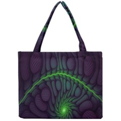 Light Cells Colorful Space Greeen Mini Tote Bag by Alisyart