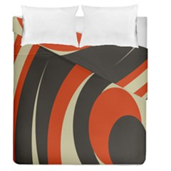 Mixing Gray Orange Circles Duvet Cover Double Side (Queen Size) by Alisyart