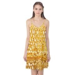 Honeycomb Fine Honey Yellow Sweet Camis Nightgown by Alisyart