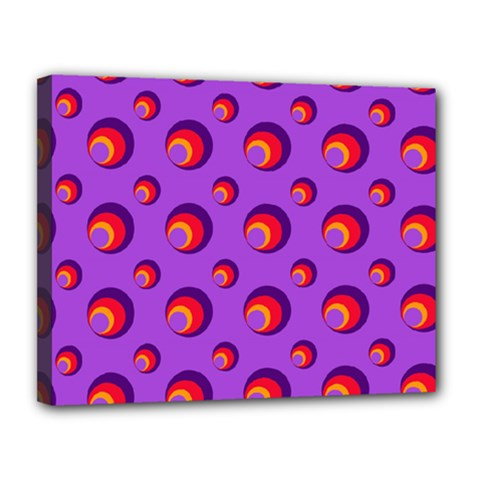 Scatter Shapes Large Circle Red Orange Yellow Circles Bright Canvas 14  X 11  by Alisyart