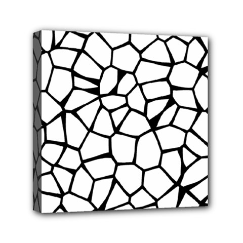 Seamless Cobblestone Texture Specular Opengameart Black White Mini Canvas 6  X 6  by Alisyart