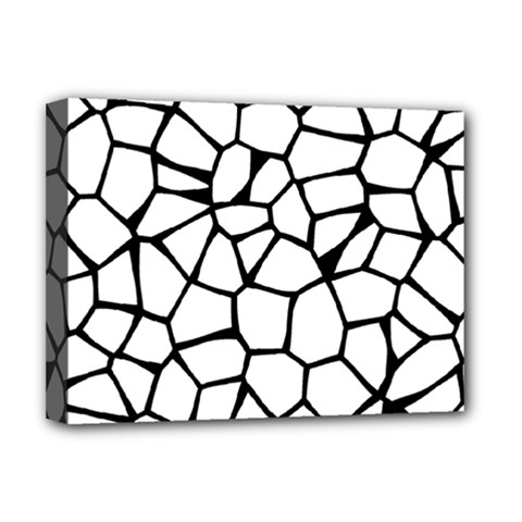 Seamless Cobblestone Texture Specular Opengameart Black White Deluxe Canvas 16  X 12   by Alisyart