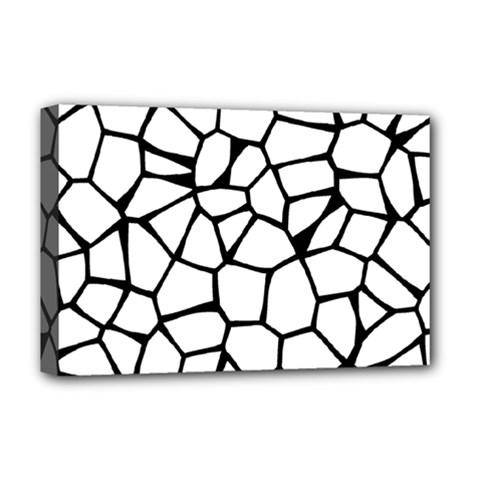 Seamless Cobblestone Texture Specular Opengameart Black White Deluxe Canvas 18  X 12   by Alisyart