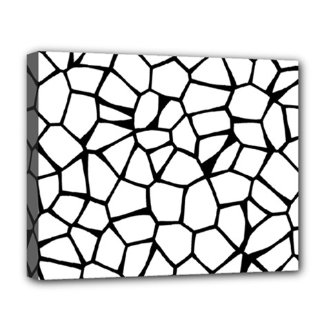 Seamless Cobblestone Texture Specular Opengameart Black White Deluxe Canvas 20  X 16   by Alisyart