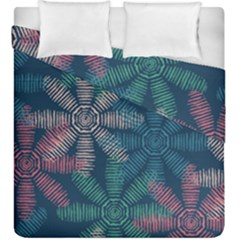 Spring Flower Red Grey Green Blue Duvet Cover Double Side (king Size) by Alisyart
