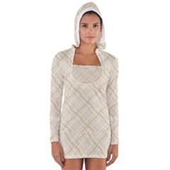 Background Pattern Women s Long Sleeve Hooded T-shirt by Simbadda