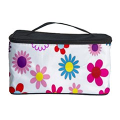 Colorful Floral Flowers Pattern Cosmetic Storage Case by Simbadda