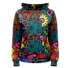 Patchwork Collage Women s Pullover Hoodie by Simbadda