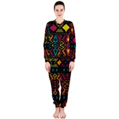 Traditional Art Ethnic Pattern Onepiece Jumpsuit (ladies)